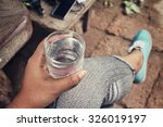 drink water | Shutterstock . vector #326019197