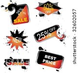 for sale icons | Shutterstock .eps vector #32602057