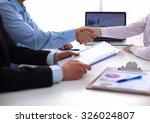 business handshake. two... | Shutterstock . vector #326024807