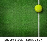 tennis balls on tennis grass... | Shutterstock . vector #326035907