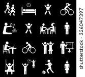 children life icons set... | Shutterstock .eps vector #326047397