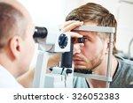 Постер, плакат: Ophthalmology concept Male patient