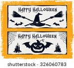 hand drawn textured halloween... | Shutterstock .eps vector #326060783