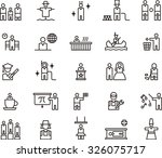 people icon set | Shutterstock .eps vector #326075717