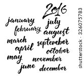 months of the year set.... | Shutterstock .eps vector #326075783