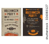 halloween party invitation card ... | Shutterstock . vector #326083127