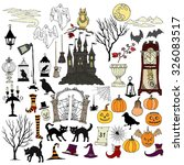 halloween. background with ... | Shutterstock .eps vector #326083517