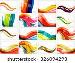 set of colorful flowing motion... | Shutterstock .eps vector #326094293