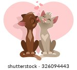 vector illustration of a couple ... | Shutterstock .eps vector #326094443
