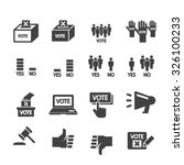 democracy icon | Shutterstock .eps vector #326100233