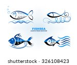 vector drawing of fish abstract.... | Shutterstock .eps vector #326108423