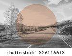 Autumn Country Road Mountain...