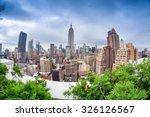 manhattan skyline from rooftop. | Shutterstock . vector #326126567