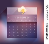 september  2016 ui calendar in...