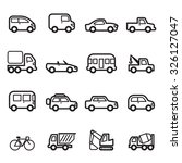 car icons | Shutterstock .eps vector #326127047