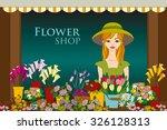 vector illustration of florist... | Shutterstock .eps vector #326128313
