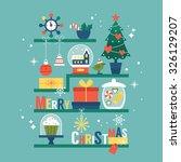 modern creative christmas... | Shutterstock .eps vector #326129207