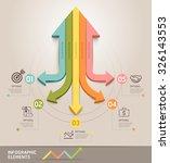 modern arrow infographics... | Shutterstock .eps vector #326143553