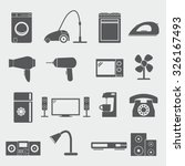 home appliances icons | Shutterstock .eps vector #326167493