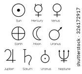 planet symbols   illustration... | Shutterstock .eps vector #326172917