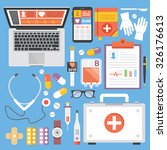 healthcare and medicine flat... | Shutterstock . vector #326176613