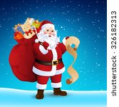 vector illustration of santa... | Shutterstock .eps vector #326182313