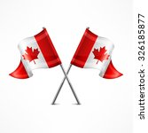 two crossed canadian flag... | Shutterstock .eps vector #326185877