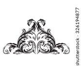 vintage baroque frame scroll... | Shutterstock .eps vector #326194877