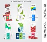 tri fold brochure design vector ... | Shutterstock .eps vector #326196053