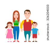 happy family | Shutterstock .eps vector #326204033