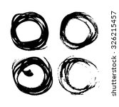 abstract black round strokes... | Shutterstock .eps vector #326215457