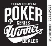 poker game typography  t shirt... | Shutterstock .eps vector #326219213