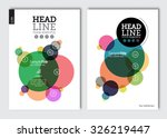 business brochure design... | Shutterstock .eps vector #326219447