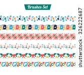 set of vector brushes of the...   Shutterstock .eps vector #326222687