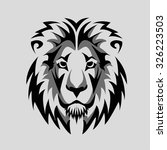 lion head black and white  icon | Shutterstock .eps vector #326223503