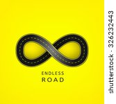 endless road in the shape of... | Shutterstock .eps vector #326232443