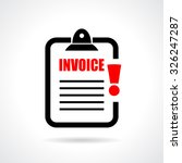 unpaid invoice reminder icon on ... | Shutterstock .eps vector #326247287