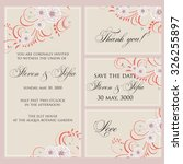 wedding invitation  thank you... | Shutterstock .eps vector #326255897