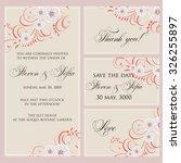 wedding invitation  thank you... | Shutterstock .eps vector #326255897