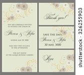 wedding invitation  thank you... | Shutterstock .eps vector #326255903