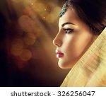 beautiful fashion indian woman... | Shutterstock . vector #326256047