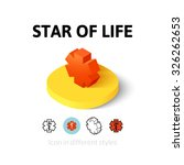 star of life icon  vector...