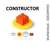 constructor icon  vector symbol ... | Shutterstock .eps vector #326264453