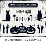 hand drawn textured halloween... | Shutterstock .eps vector #326269433