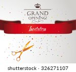 grand opening card with... | Shutterstock .eps vector #326271107