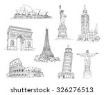 attractions of the world.... | Shutterstock .eps vector #326276513