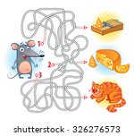 help the mouse to find the... | Shutterstock .eps vector #326276573