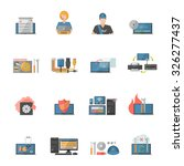computer repair icons set with... | Shutterstock .eps vector #326277437