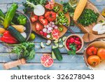 traditional vegetables used in... | Shutterstock . vector #326278043