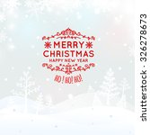 christmas retro greeting card... | Shutterstock .eps vector #326278673